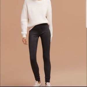 Aritzia Wilfred free Daria faux suede leggings